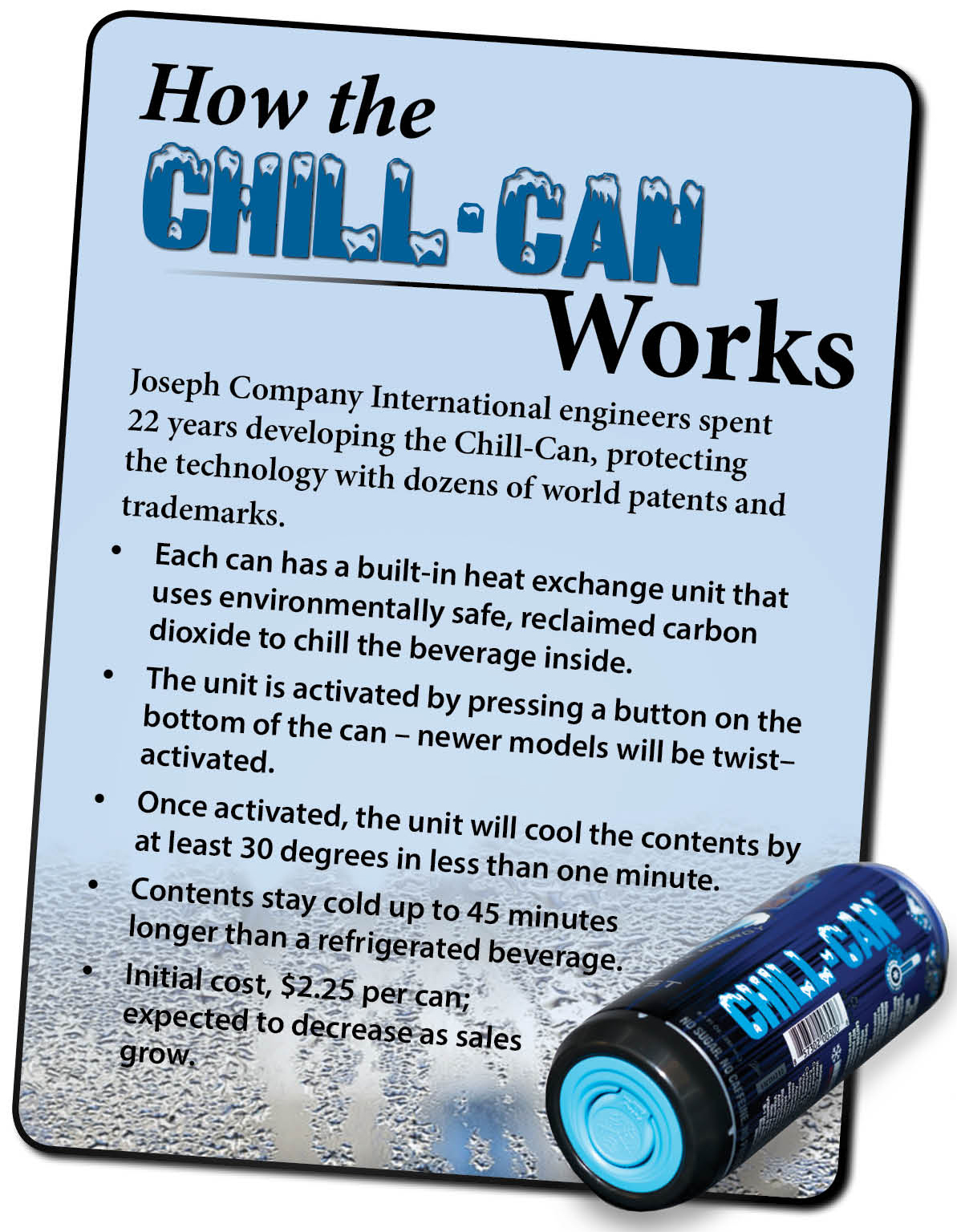 How the Chill-Can Works Graphic