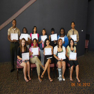 Group members holding certificates during Summer Program 2012