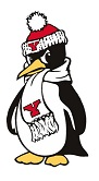 YSU mascot, Pete the Penguin.
