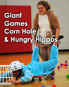 Giant Games, Corn Hole and Hungry Hippos
