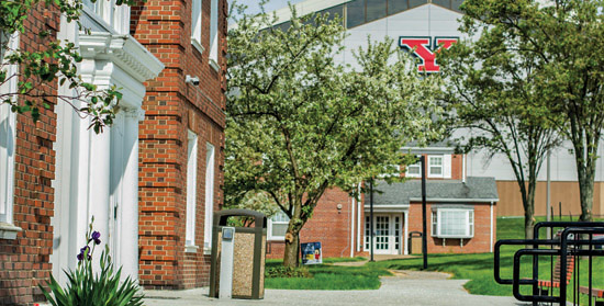 Lyden House is located on the north side of campus and is close to Cafaro House & the Chirstman Dining Commons.