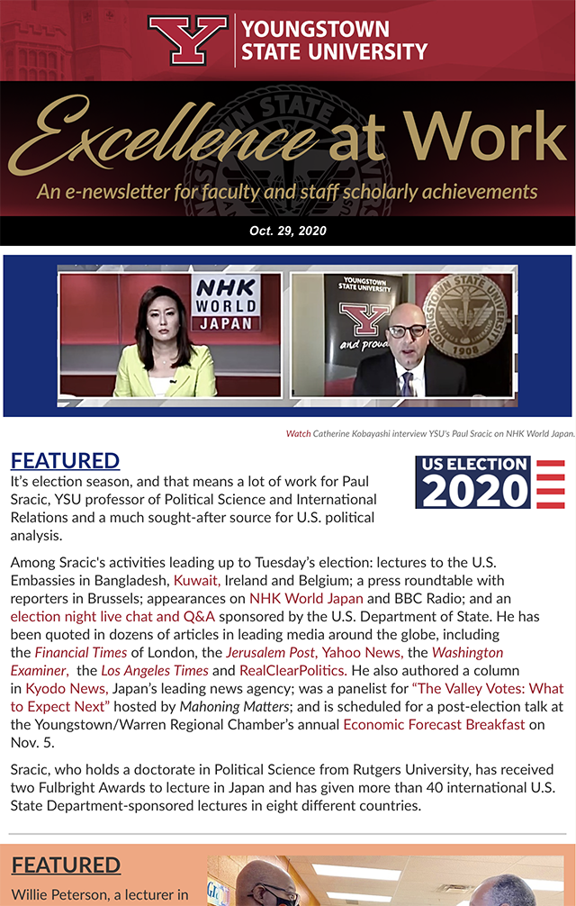 Thumbnail for Volume 2, Issue 5 of the Excellence at Work Newsletter