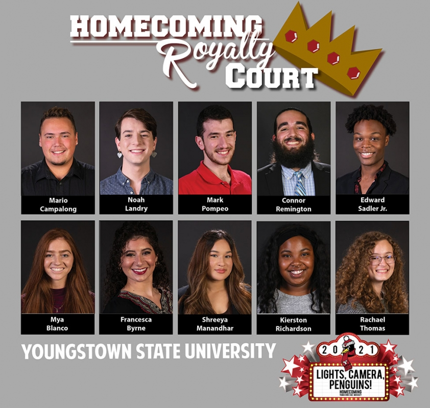 ysu homecoming royalty court with photos