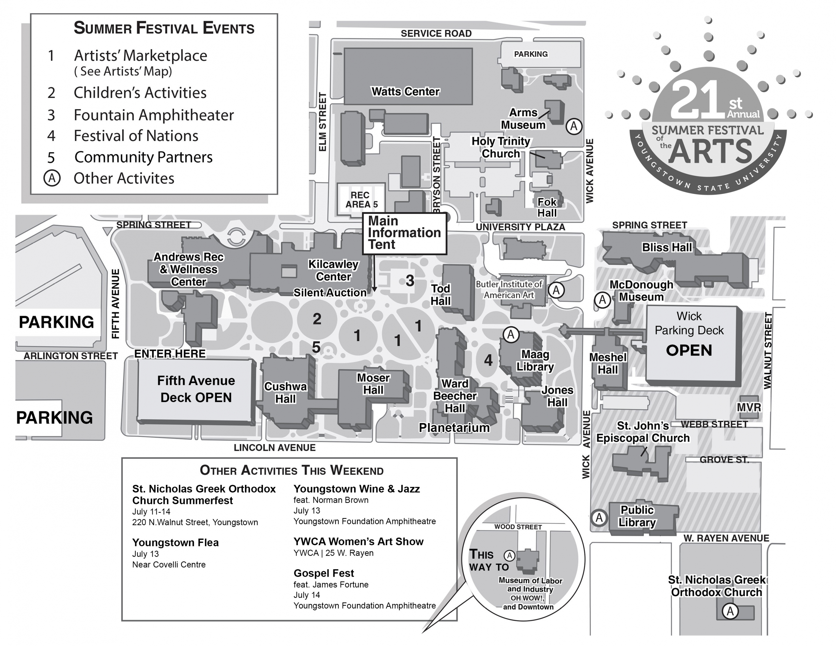 Summer Festival of the Arts Maps | YSU on