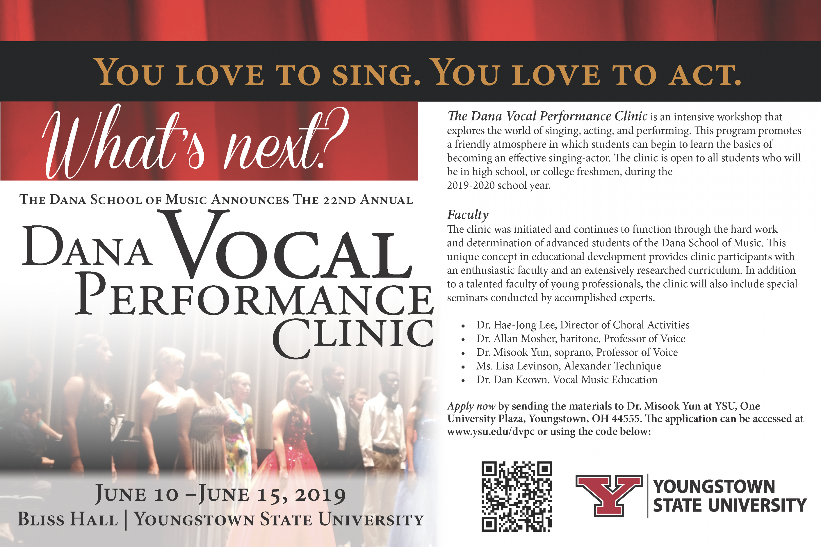 Dana School of Music - Vocal Performance Clinic