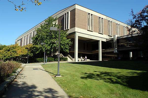 Front view of Cushwa Hall