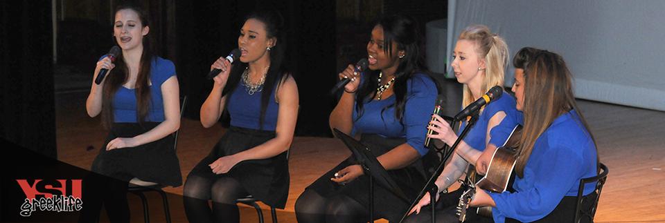 Sorority Sisters at Greek Sing