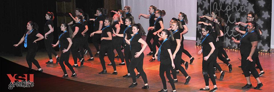 Alpha Xi Delta at Greek Sing 2015
