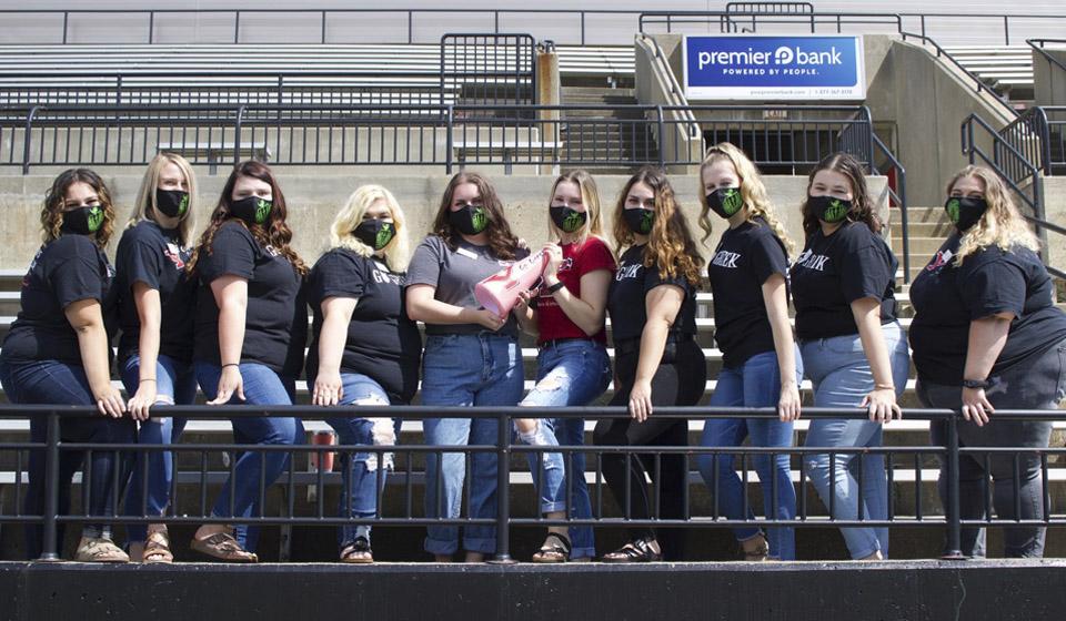 Sorority sisters at Stambaugh Stadium