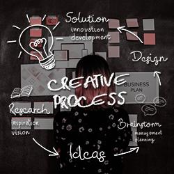 creative process research ideas design solution