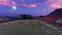 YSU Football Field at Night
