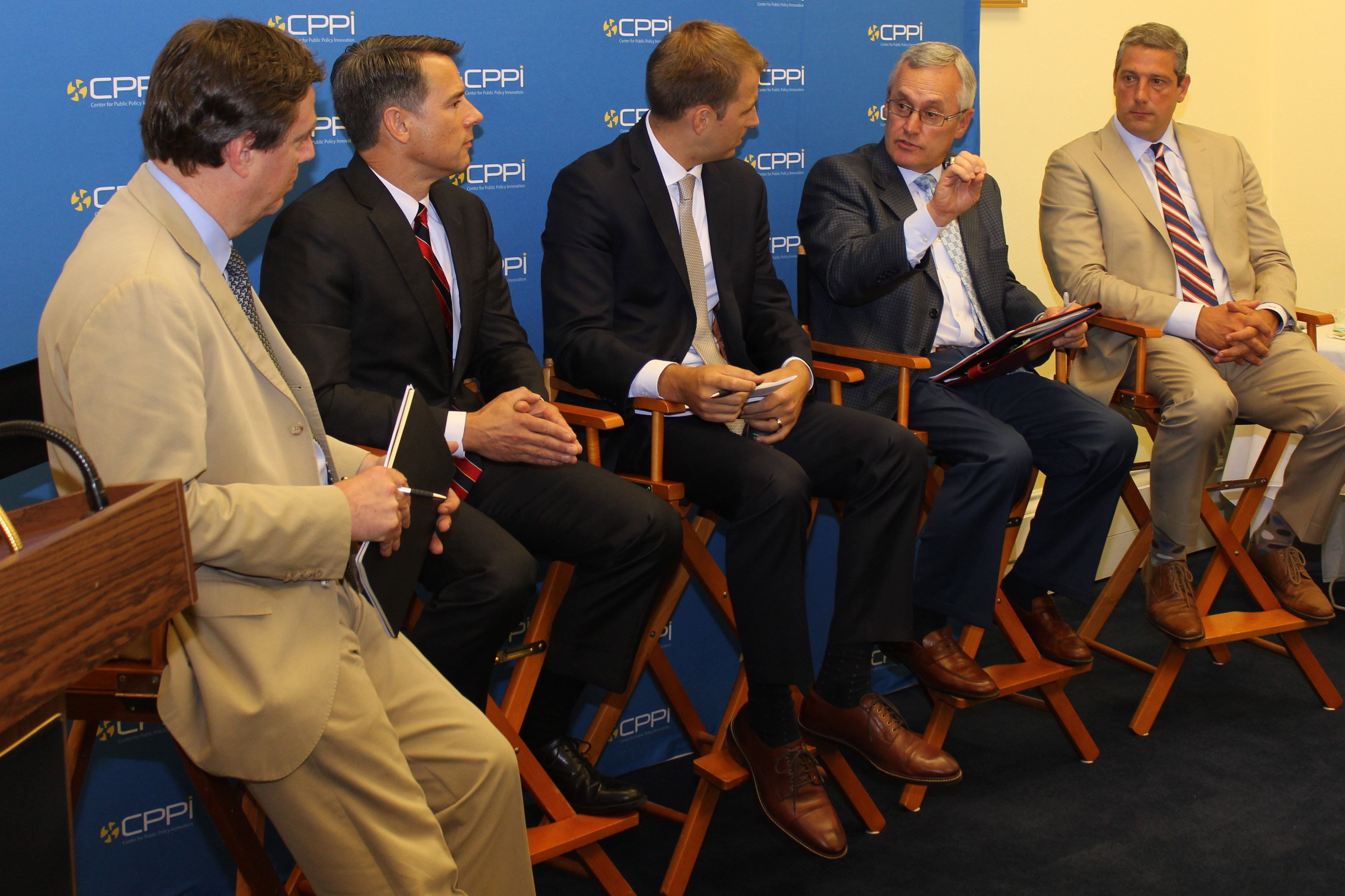 """President Jim Tressel participates in a panel discussion on Capitol Hill that addressed the topic """"Is Our American Workforce Ready for 3D Print Manufacturing?"""