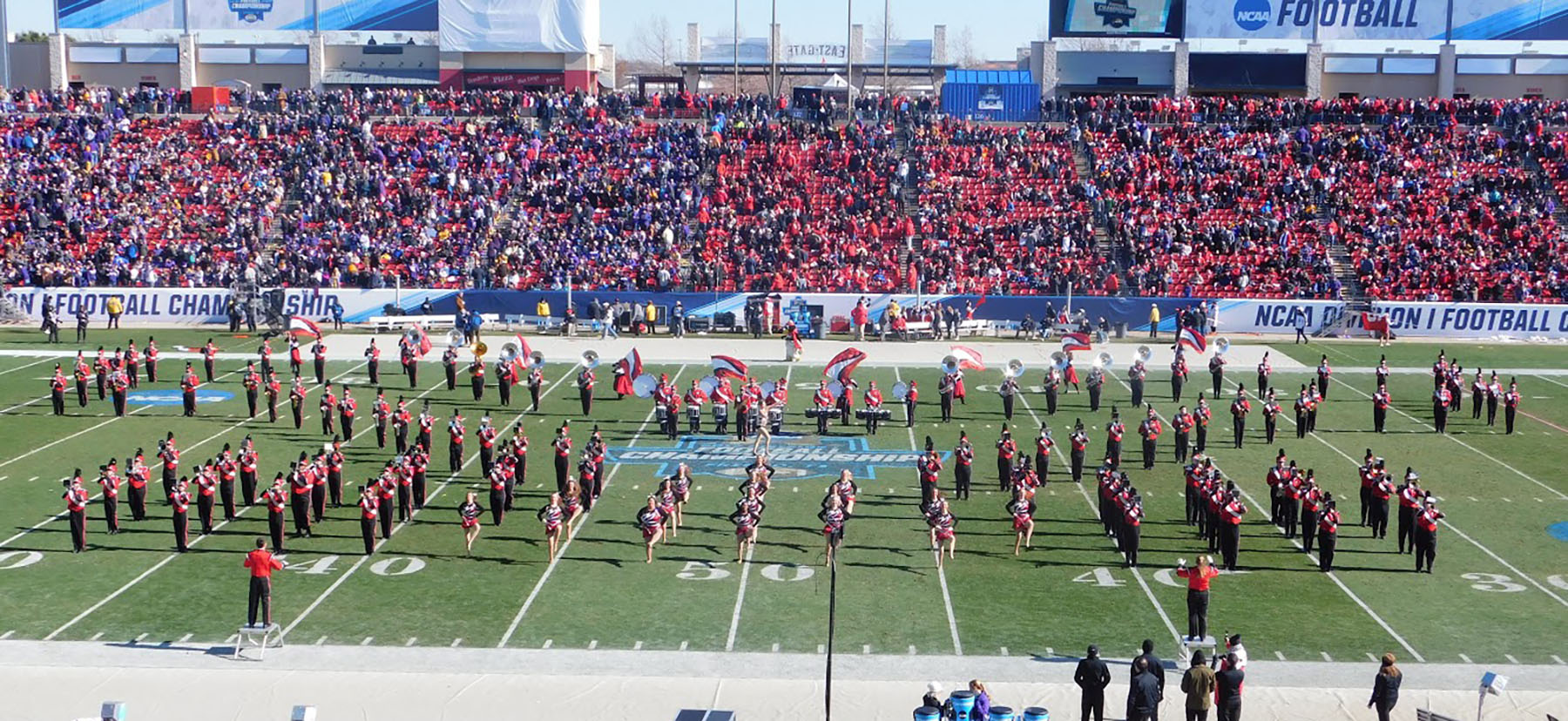 The Marching Pride performing at the National Championship