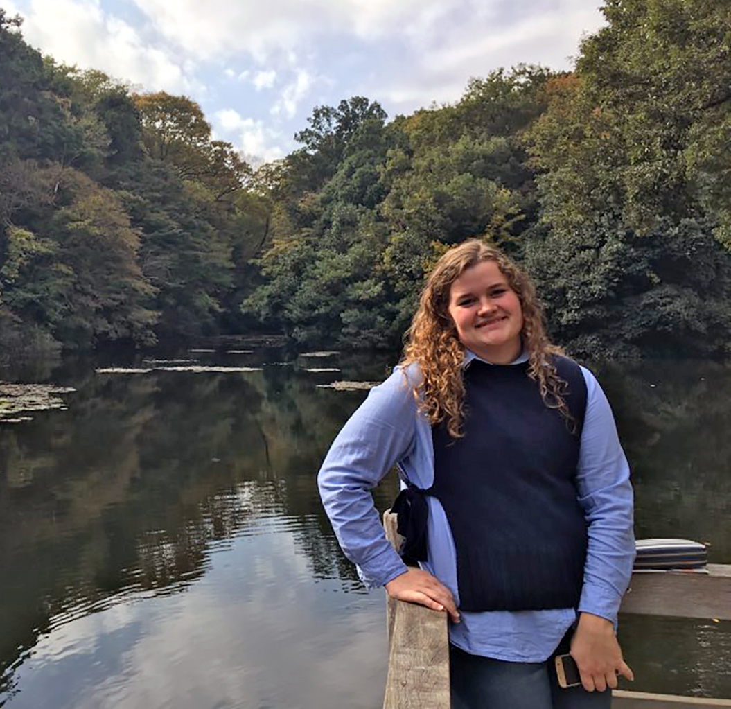 YSU senior Emily Henline at one of the lakes at Changdeokgung Palace in Seoul, South Korea.