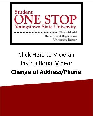 Student One Stop change of address/phone instructional video