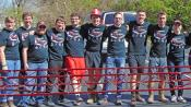 Members of the YSU team at  the regional ASCE Student Steel Bridge Competition