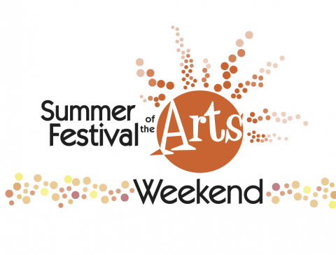 Designed logo by the College of Creative Arts and Communication for the Summer Festival of the Arts Weekend 2017