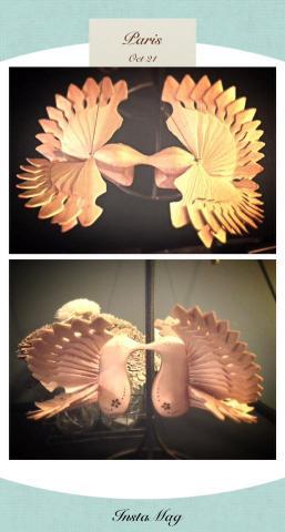 Hummingbird sculptures made out of wood