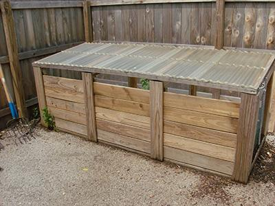 Area for compost pile collection