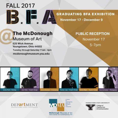 Graduate Exhibition Poster with graduates photos