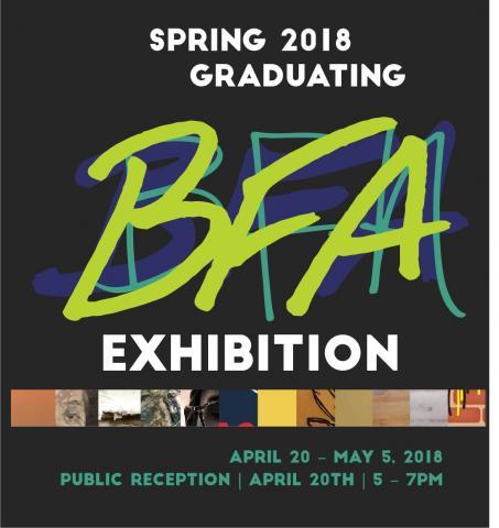 Spring 2018 Graduating BFA Art