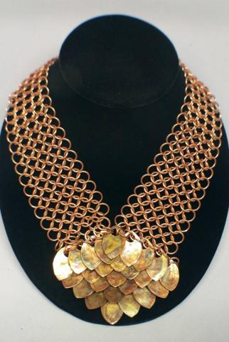 Gold handmade necklace