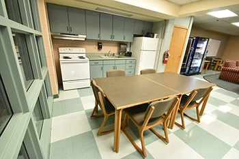 Cafaro House Recreation Area, Kitchen, and Vending