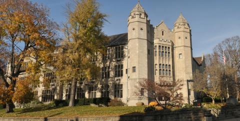 Front view of Jones Hall