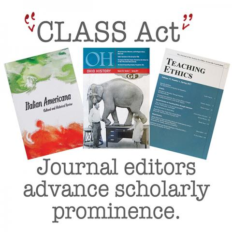 CLASS Act — Journal editors advance scholarly prominence