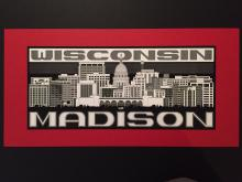 A computer generated drawing of Madison, Wisconsin's skyline