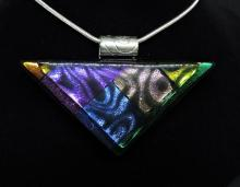 Multicolor triangle necklace