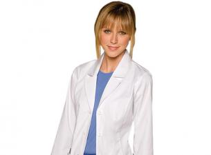 White nursing coat graphic