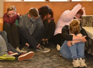 YSU resident assistants undergo active shooter training at Cafaro House residence hall.