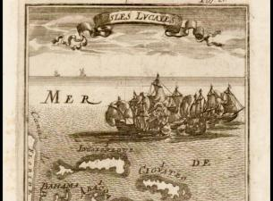 This 1686 map by French cartographer Alain Mallet shows the Bahamas Archipelago. The map is part of