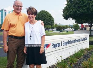 Stephen Gurgovits, chairman of FNB Corp. and First National Bank of Pennsylvania, and his wife, Sand