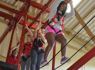 YSU students at campus rec center taking part in training