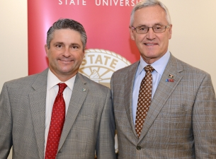 Ben Stoffer, left, Medical Mutual regional vice president, Canton, Youngstown and Southeast Region,