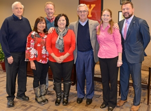 Representatives from the Youngstown General Duty Nurses Association met recently with YSU President