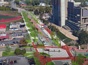 Rendering of Youngstown State University