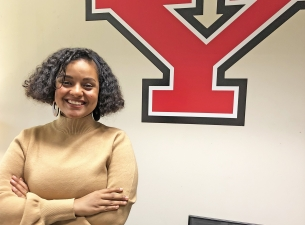 Dina Abdo the first student ever to study at YSU under the prestigious international scholarship pro