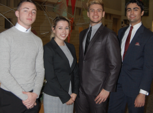 From the left, Dustin Hudak, Kennedy Stanko, Daniel Raver, Anthony Nakley