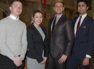 From the left, Dustin Hudak, Kennedy Stanko, Daniel Raver, Anthony Nakley