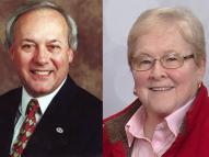 Joe Edwards and K.J. Satrum the 2017 Heritage Award Recipients