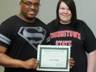 Sister Jerome's Mission College Scholarship winners Kevin D. Talley Jr., and Sarah L. Ludwick