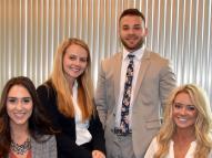 Beeghly Fellows Mariah Carna, Alexis Madeline, Julian Testa, and Lexi Kulisz