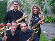 Members of The Transcontinental Saxophone Quartet