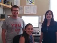 Tyler Leibengood, Alexandra Ballow and Alina Lazar in the Lawrence Berkeley National Laboratory.