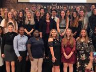 Members of the National Society of Collegiate Scholars at YSU