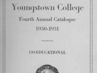 Cover of the Youngstown College Fourth Annual Catalogue for 1930-1931
