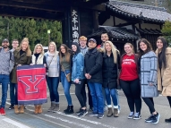 Group of YSU students in Japan